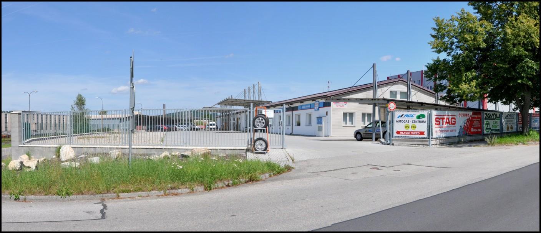 Vjezd Autogas Centrum Strakonice
