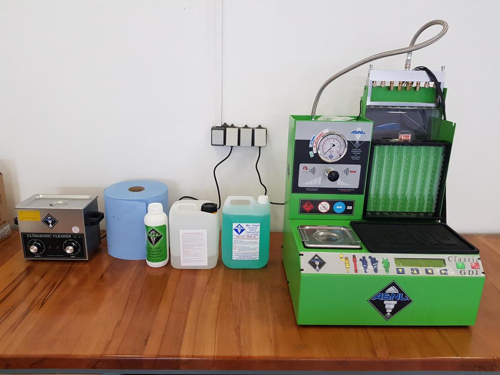 Zařízení pro diagnostiku a servis benzínových vstřikovačů ASNU