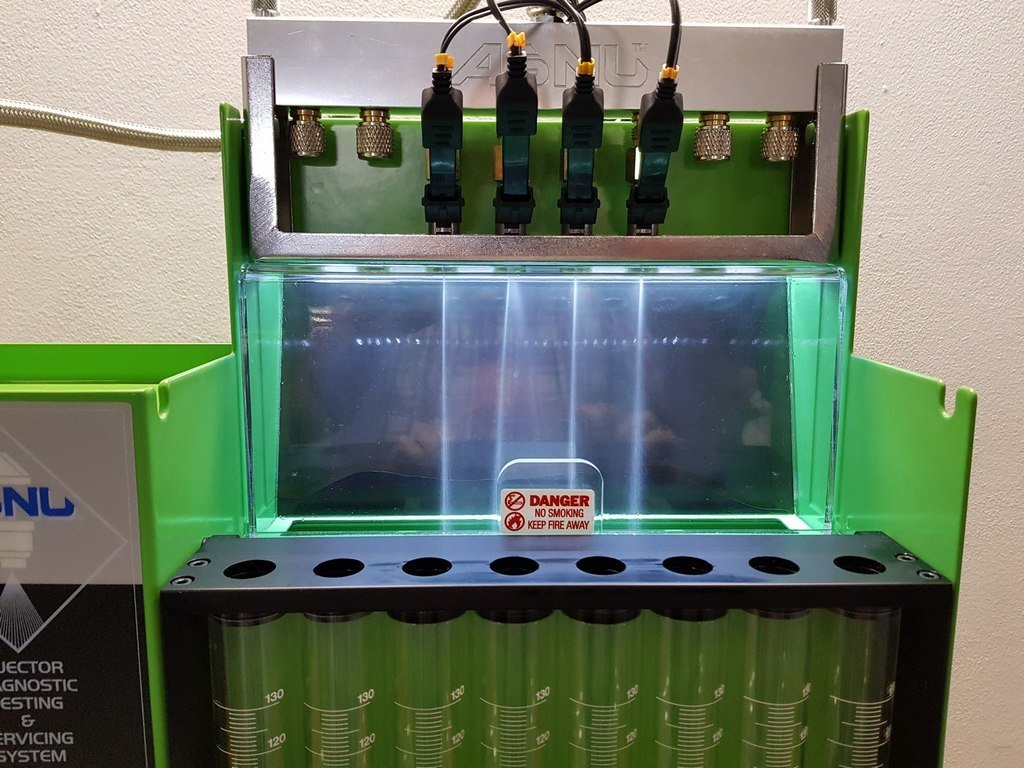 Test benzínových vstřikovačů ASNU